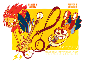 Lammy and Parappa by FlashBros