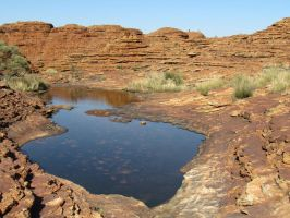 Kings Canyon - Drying Pool of Water by TricoloreOne77