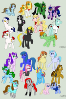 Pony OC's!!! by VickyViolet