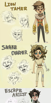 Circus characters by Leerer-Raum