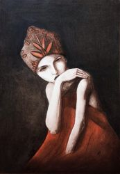 A lady in charcoal by Sketchda