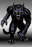 Wicked Wolf Films LLC Logo Character by SavageSinister