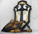 Johanna - Heroes of the Storm shield and flail by TheGoblinFactory