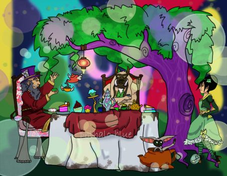 Iroh's Mad Tea Party by Phthalo-Blue