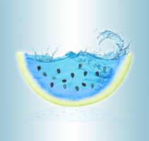Watery Watermelon by Dessins-Fantastiques