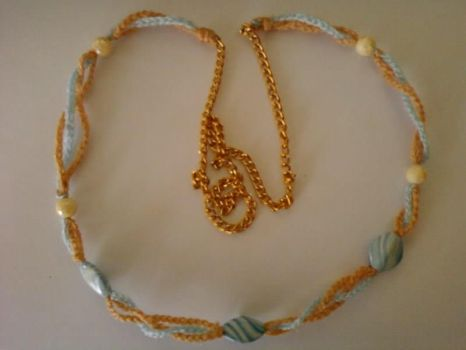 Simple Crochet Necklace by lisa-adrina