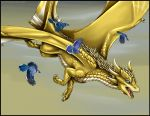 Gift - Blue and Gold by sidian