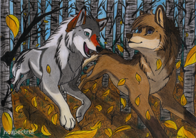 AT: DASHING THROUGH THE...LEAVES? by nospectral