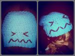 Crochet Pokemon Wobbuffet Slouch Hat by xXSugarHiNightmareXx