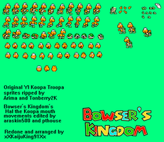 Hal the Koopa sprite sheet by AsylusGoji91