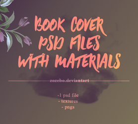 book cover's psd file + materials by ZozeBo