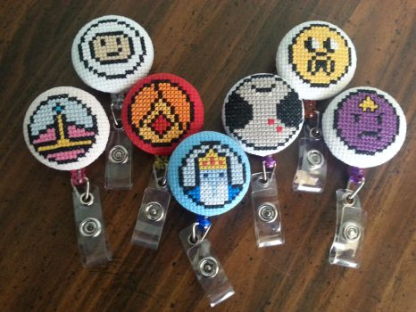 Adventure Time ID Badges by Sew-Madd