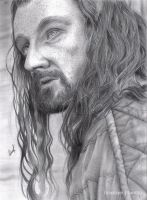 Thorin Oakenshield (Pencil drawing) by LinaKaye