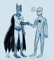 Batman and Spider-Man by Erikku8
