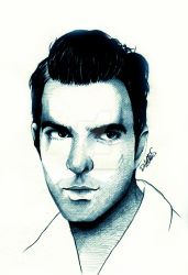 Zachary Quinto | Oliver Thredson by DilettaStrangee on