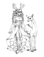 Deer Goddess by Shakoriel