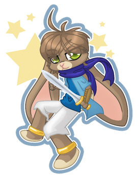 Southpaw Hare Chibi by firepixie