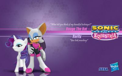 Sonic X Equestria: Rouge and Rarity by Fuzon-S