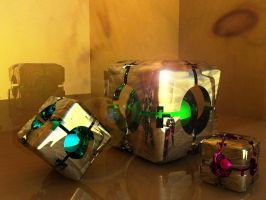 Portal Refraction Cubes by wazzy88