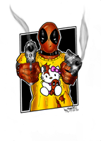 Deadpool and Hello Kitty NEW by BouncieD