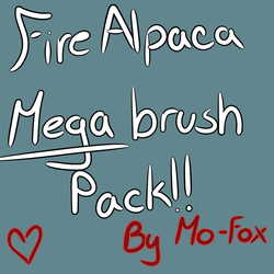 FireAlpaca Brush mega pack! FREE by Mo-fox
