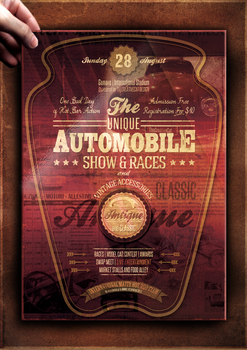 Vintage Car Poster Template by TheCreativeCatDesign