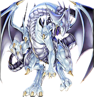 Azure-Eyes Silver Dragon png by Carlos123321