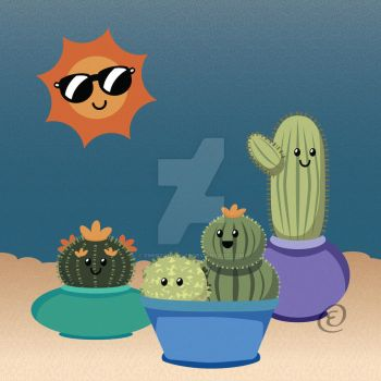 Cactus Friends by EmersonWolfe