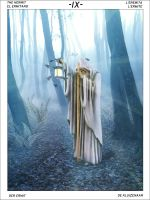 Mystic Tarot: IX the Hermit by KKL