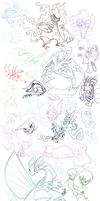 Pokemon doodly mess