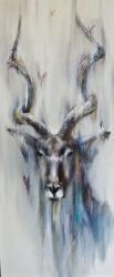 Greater Kudu Oil Painting by DerekMason