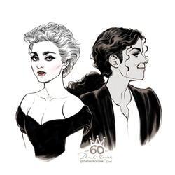 Madonna and Michael Jackson by daekazu