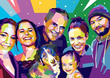 WPAP Pop Art Commission - Family Portraits by AdamKhabibi