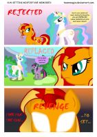 Sun Setting Misfortune MLP Comic: Memories by teammagix