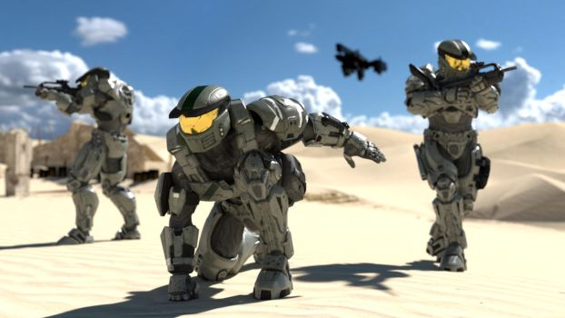 Spartan Team Boots on the Ground by enderianc