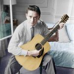Johnny Cash in the early 60's colorized by OldHank