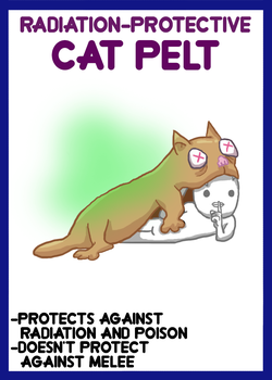 [P] - Radiation-Prevention Cat Pelt by PixelPunch007