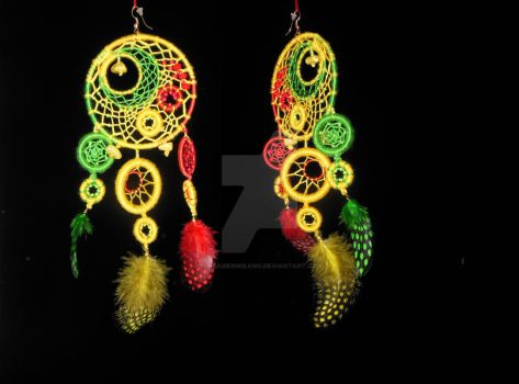 Dreamcatcher Earrings by DreamerMirano