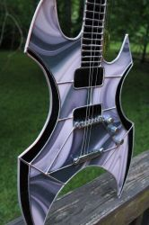 Stained Glass Ax Guitar 2 by Raventalker