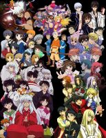 UPDATED ANIME BINDER COLLAGE by xjesus-freakx