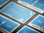 Cool Seafood Restaurant Business Card by sjarahul