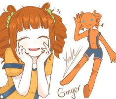 Oc sketch: Ginger by Liuh-H