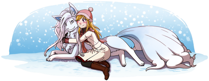 Hugs in the Snow by tazsaints
