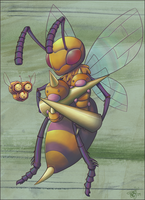 Bees by Humblebot