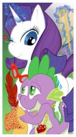 MLP - Spike and Rarity by Escopeto