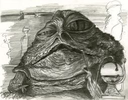 Jabba the Hutt caricature by Caricature80