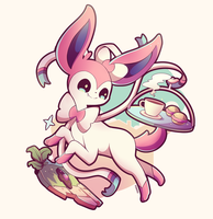 Sylveon by Pokkiu
