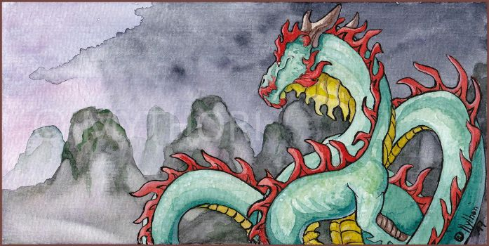 'Asia' Watercolor by mythori