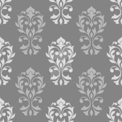 Heart Damask Pattern Gray Mix by NatPaskell