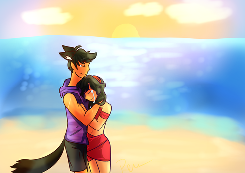 Aphmau x Aaron Starlight by ReulletHollow